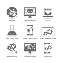 Seo Icons Set vector image