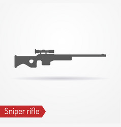 sniper rifle silhouette icon vector image vector image