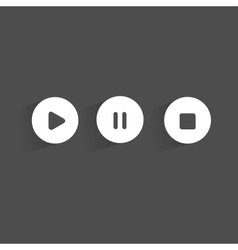 Stopplaypause web icons on background vector