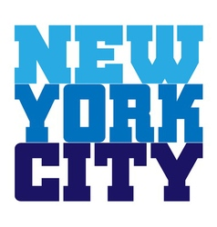 T shirt typography new york blue vector