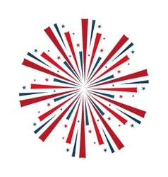 Usa patriotic colors decoration vector