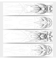 Web banners set pinstripe design header layout vector