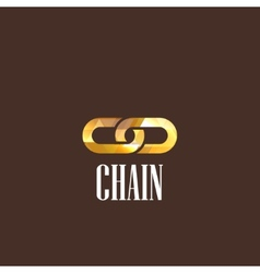 With a chain icon vector
