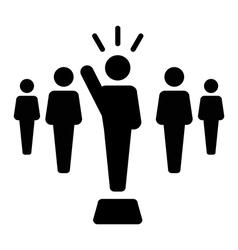 Leader icon vector