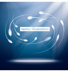 Neon Circle Background vector image