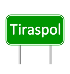 Tiraspol road sign vector
