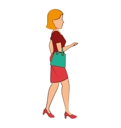 People walking isolated icon vector