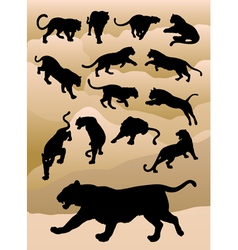 Tiger silhouettes vector
