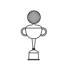 trophy golf isolated icon vector image