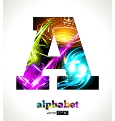 Design abstract letter a vector