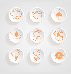 Icons weather design vector