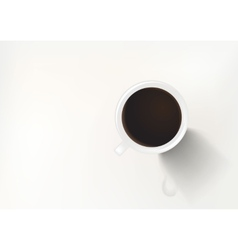 Coffee in white cup top vector