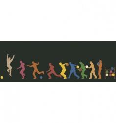 bowler vector image