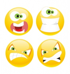 set emoticons vector image
