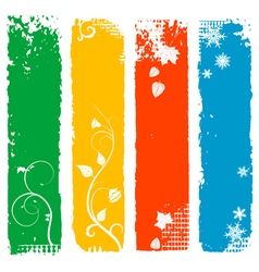 Four seasons vertical banners vector