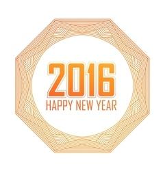 Greeting card Happy New Year 2016Holiday mandala vector image
