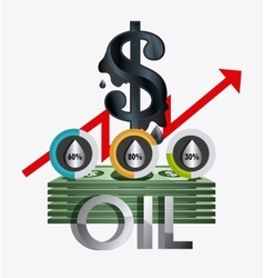 Fuel prices economy design vector