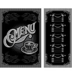 Black and white pattern for coffee menu vector