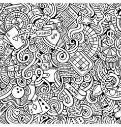Cartoon hand-drawn doodles on the subject of vector