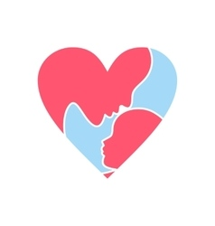 Mother day heart icon vector