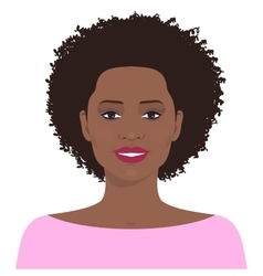 Pretty african american woman vector