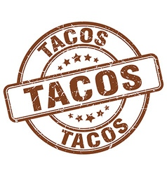 tacos stamp vector image