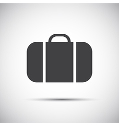 Simple grey suitcase icon vector