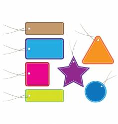 baggage tags vector image vector image