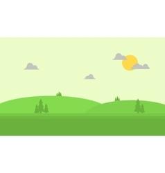 Beautiful hill landscape flat vector