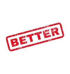 Better Text Rubber Stamp vector image