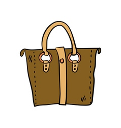 Brown handbag vector image vector image