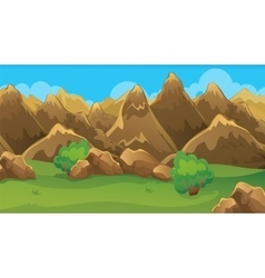 Brown hills game background vector