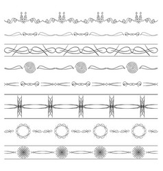 Calligraphic dividers - set of borders vector
