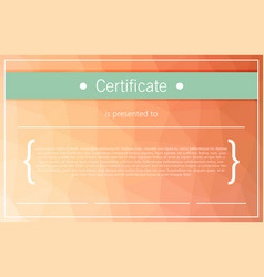 certificate background modern flat style vector image vector image