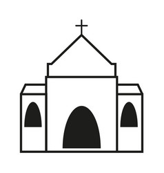 church of icon vector image