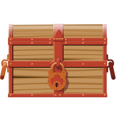 closed wooden chest vector image vector image