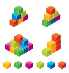 colourful childrens blocks vector image