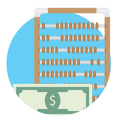 Counting money icon vector