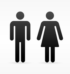 Female and Male symbol vector image