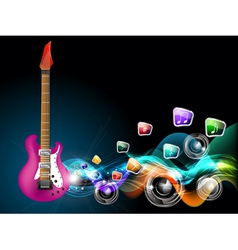 guitar music vector image vector image