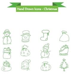Holiday and christmas icons set vector