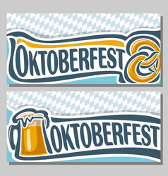 horizontal banners for oktoberfest vector image vector image