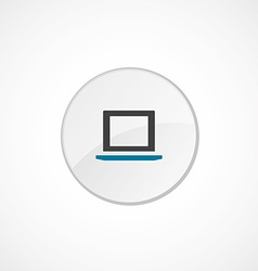 laptop icon 2 colored vector image