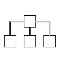 Network black color icon vector
