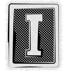 Polka Dot Font LETTER I vector image vector image