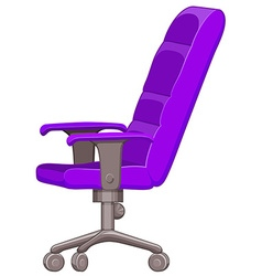 Purple computer chair with wheels vector