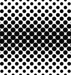 Repeating black white dot pattern vector