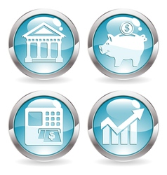Set Business Buttons vector image