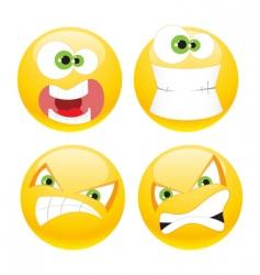 set emoticons vector image vector image