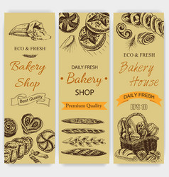 sketch - bakery loaf vector image